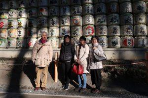 at the Meiji-jingu Shrine